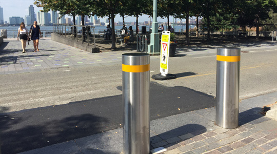 bollards in use